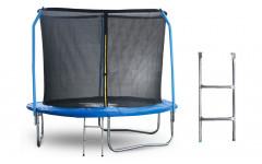 Батут 8 футов (244 см) с внутренней сеткой, держателями и лестницей