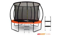 Батут GLOBAL 10 футов с внутренней сеткой и лестницей