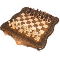 Шахматы + Нарды резные Арарат 60 Ohanyan