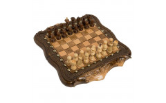 Шахматы + Нарды резные Арарат с бронзой 30 Ohanyan