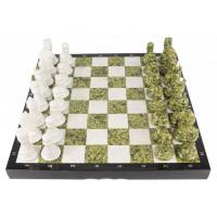Шахматы змеевик, мрамор