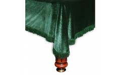 Покрывало Милано 10фт бархат зелёное/зеленая бахрома