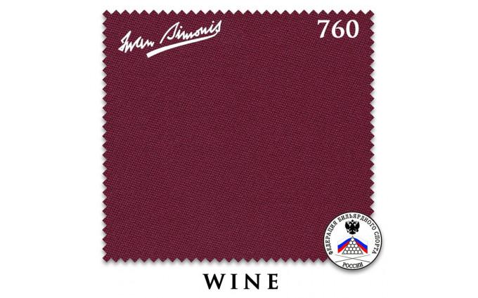 Сукно Iwan Simonis 760 195см Wine