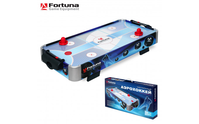 Аэрохоккей ★ Fortuna HR-31 Blue Ice Hybrid настольный 86х43х15см