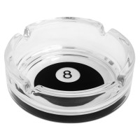 Пепельница Бильярдный шар №8 стекло ø106мм h35мм