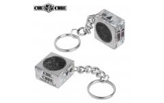 Брелок-инструмент для обработки наклейки Cue Cube серебро