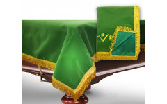 Чехол для б/стола 9-3 (зеленый с желтой бахромой, без логотипа)