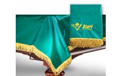 Чехол для б/стола 8-2 (зеленый с желтой бахромой, с логотипом)