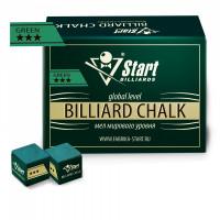Мел Startbilliards 3 звезды зеленый (144шт)