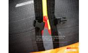 Батут GLOBAL SLF 8 футов с внутренней сеткой и лестницей