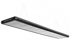 Лампа плоская люминесцентная «Longoni Nautilus» (черная, серебристый отражатель, 320x31x6см)