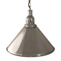 Лампа на один плафон «Elegance» (серебристая чашка,серебристый плафон D35см)