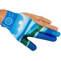 Перчатка голубая с рисунком, на левую руку, Longoni, Gustavo Torregiani