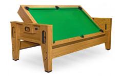 Cтол-трансформер «Twister» 3 в 1  (бильярд, аэрохоккей, настольный теннис, 217 х 107,5 х 81 см, дуб)